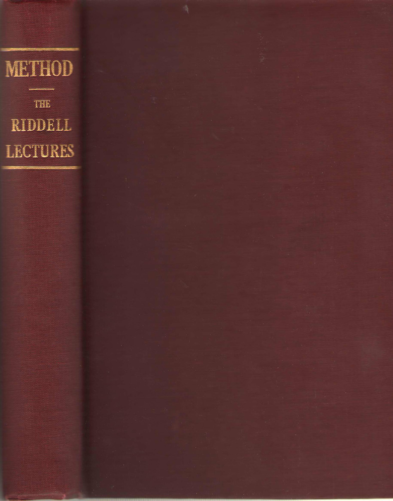 Method The Riddell Lectures on Applied Psychology and Vital Christianity, Riddell, Newton