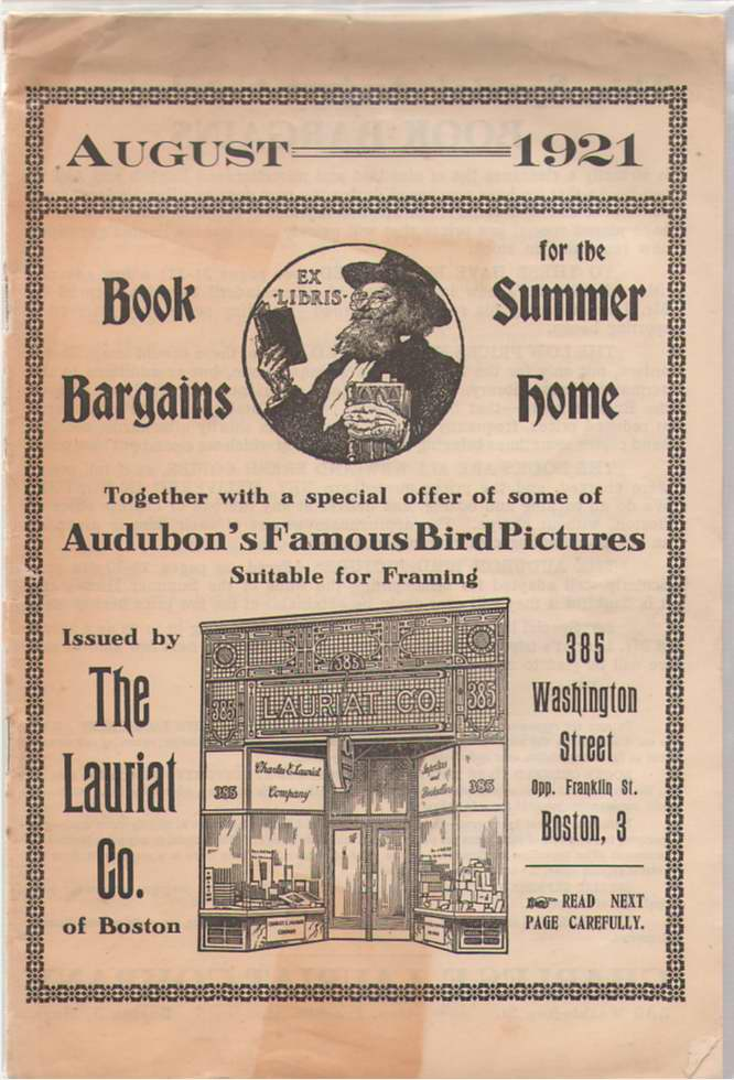 Image for August 1921 - Book Bargains For The Summer Home