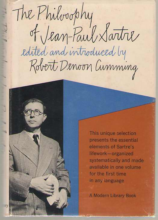 Philosophy of Jean Paul Sartre, Sartre, Jean-Paul; Cumming, Robert (editor)