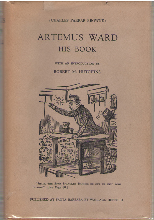 Artemus Ward, His Book, Browne, Charles Farrar