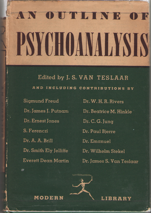 An Outline Of Psychoanalysis, Van Teslaar, J. S. (editor)