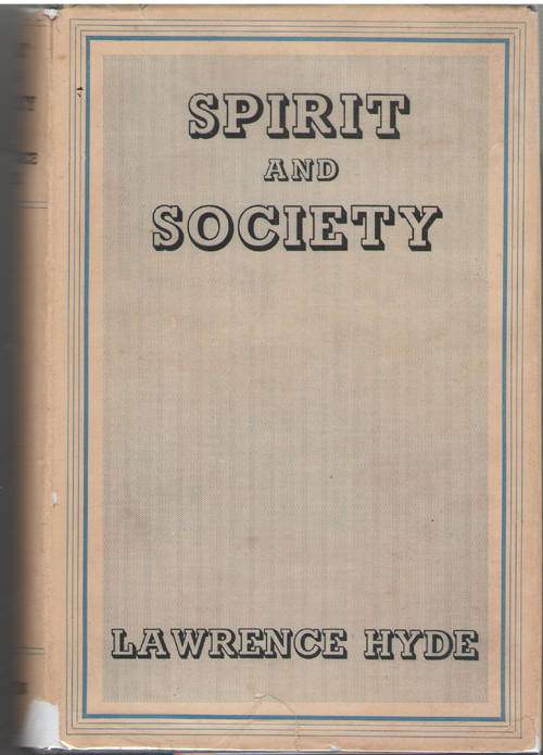Spirit And Society, Hyde, Lawrence