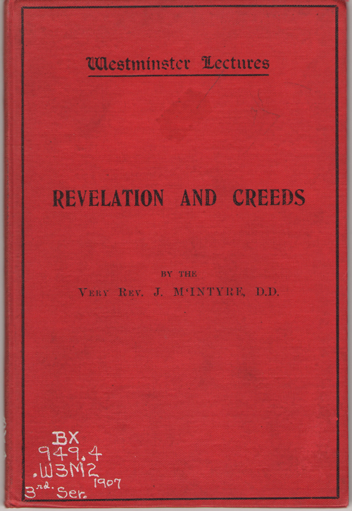 Revelation and Creeds, McIntyre, J.