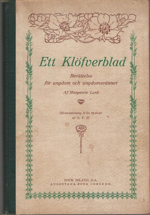 Image for Ett Klofverblad  Berattelse for Ungdom Och Ungdomsvanner