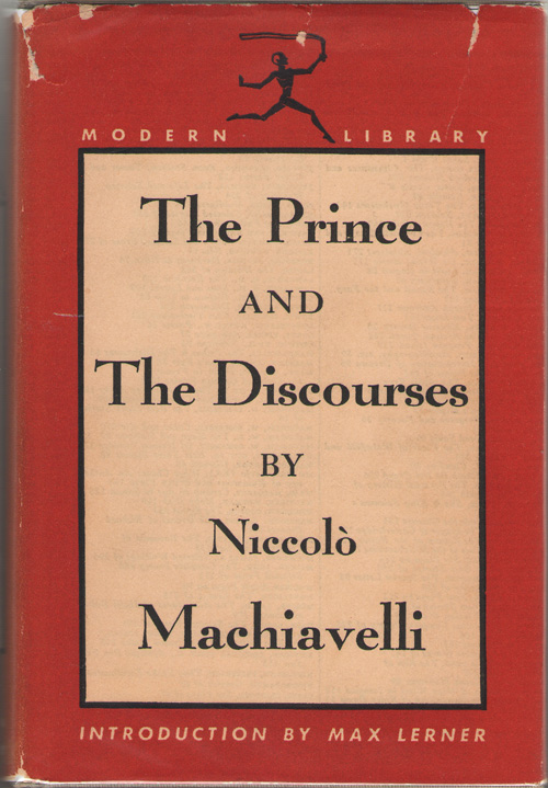 The Prince And The Discourses, MacHiavelli, Niccolo