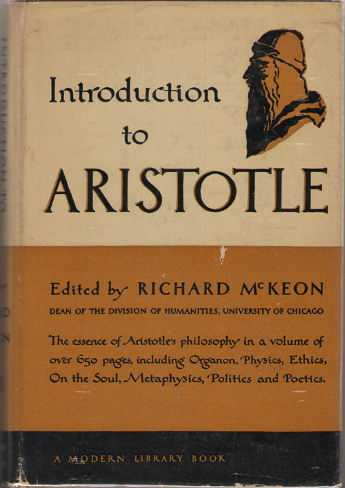 Introduction To Aristotle, Aristotle; & McKeon, Richard (editor)