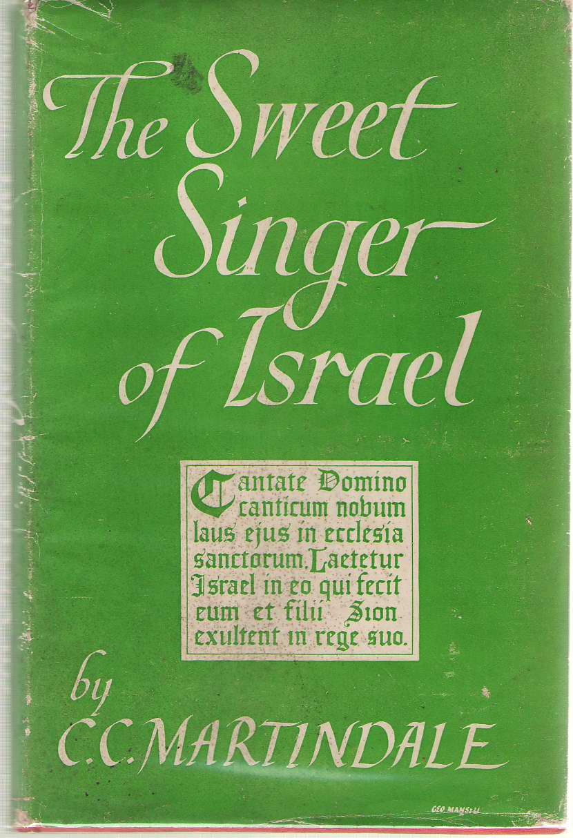The Sweet Singer Of Israel, Martindale, C. C.