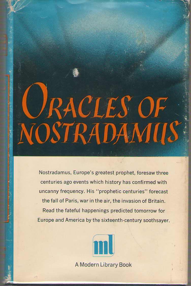 Oracles of Nostradamus, Ward, Charles A. (editor)