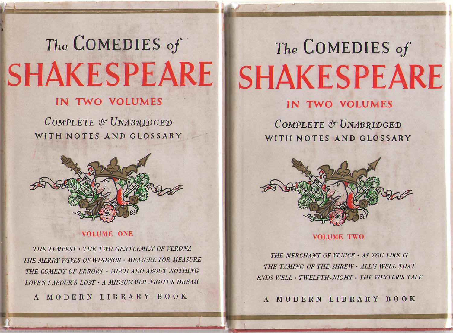 The Comedies Of Shakespeare - Two Volume Set, Shakespeare, William