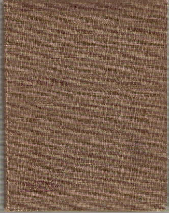Isaiah The Modern Reader's Bible, Moulton, Richard G.