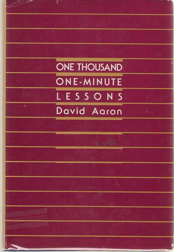 One Thousand One-minute Lessons, Aaron, David