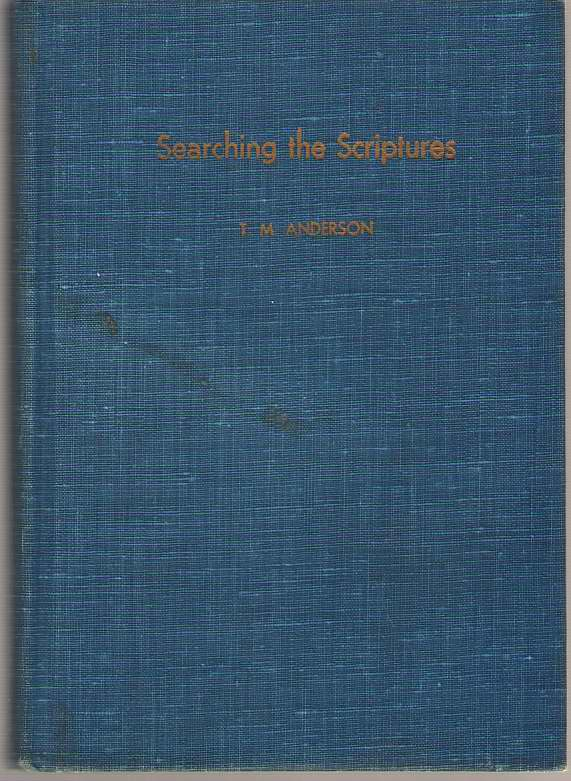 Searching the Scriptures, Anderson, Tony Marshall
