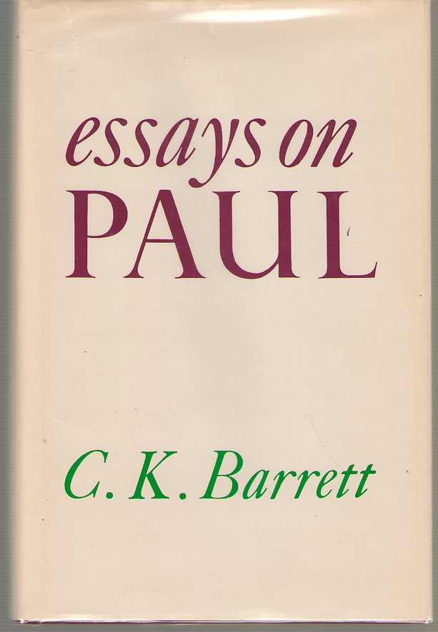 Essays on Paul, Barrett, C. K.