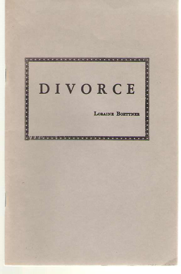 Divorce, Boettner, Loraine