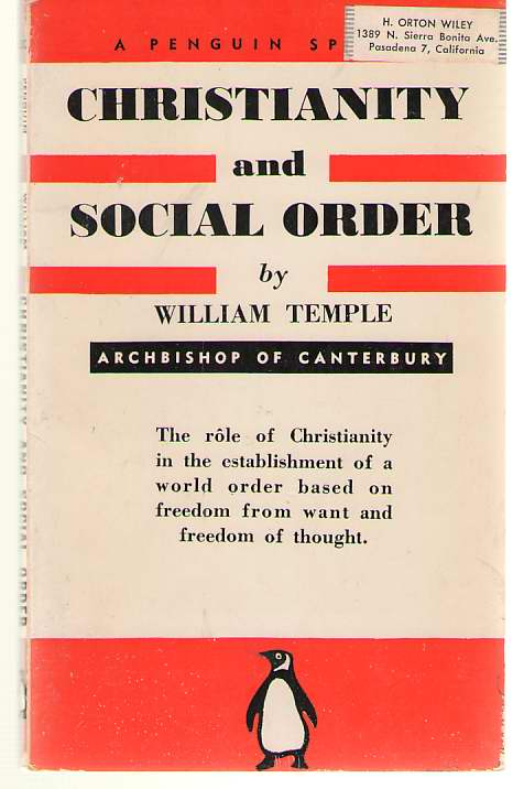 Christianity and Social Order, Temple, William