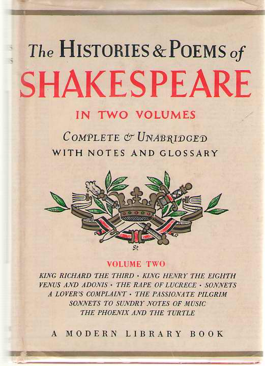 The Histories & Poems of Shakespeare, Vol. 2, Shakespeare, William