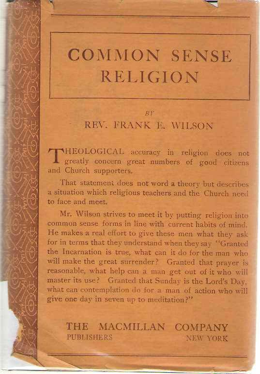 Image for Common-sense Religion  What's it good for?