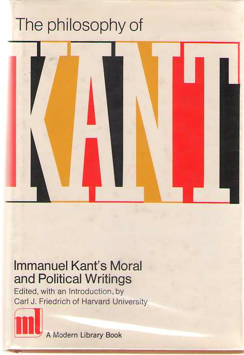 The Philosophy Of Kant, Kant, Immanuel