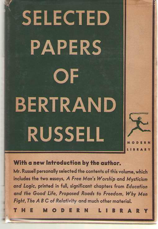 Selected Papers Of Bertrand Russell, Russell, Bertrand