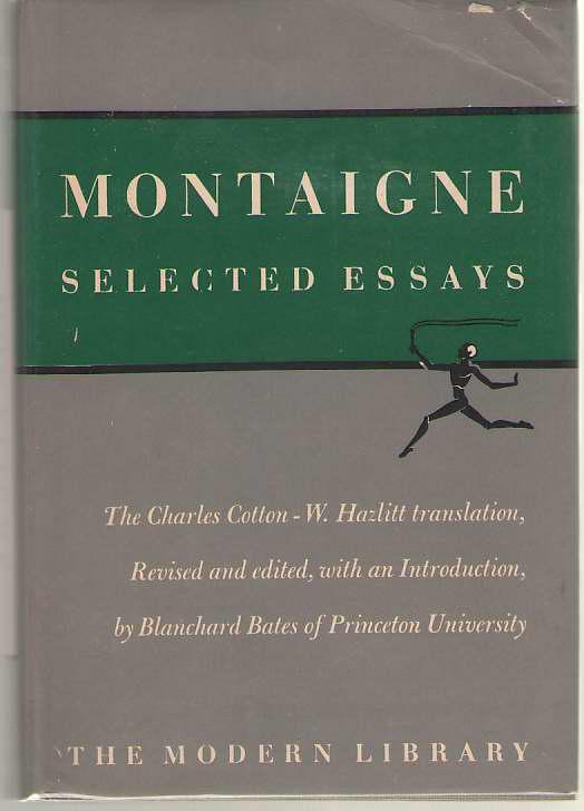 Montaigne Selected Essays, De Montaigne, Michel