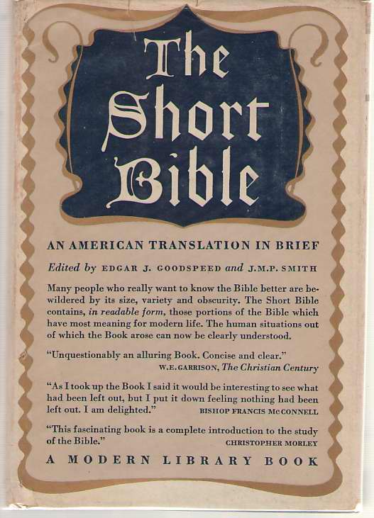 The Short Bible An American Translation