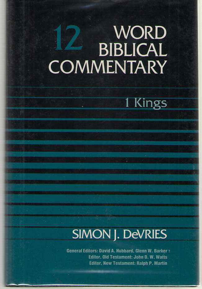 1 Kings, Devries, Simon J.