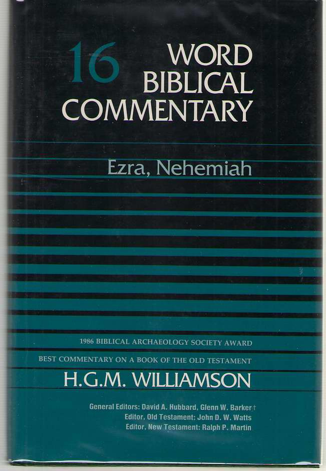 Ezra, Nehemiah, H. G. M. Williamson
