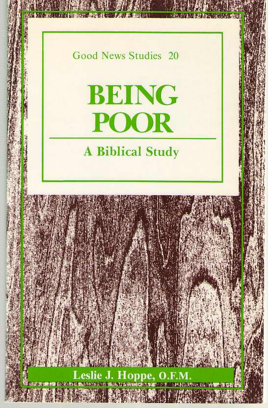 Image for Being Poor  A Biblical Study