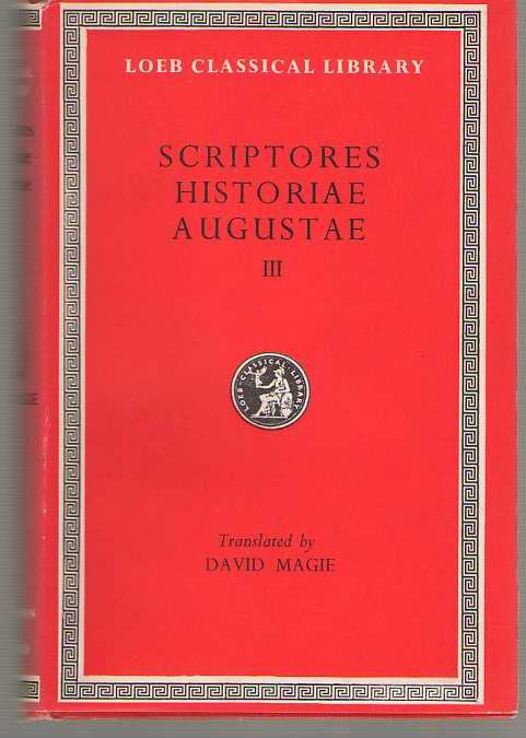 Historia Augusta Scriptores Historiae Augustae, Volume III, Magie, David