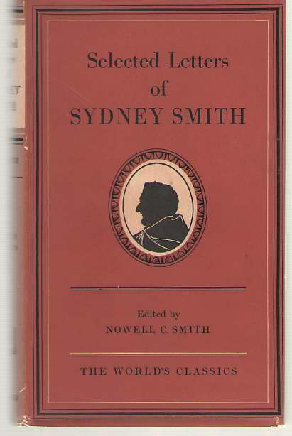 Image for Selected Letters Of Sydney Smith