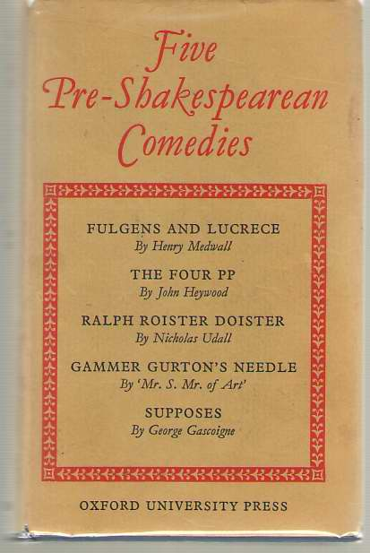 Image for Five Pre-Shakespearean Comedies Early Tudor Period