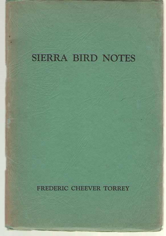 Image for Sierra Bird Notes
