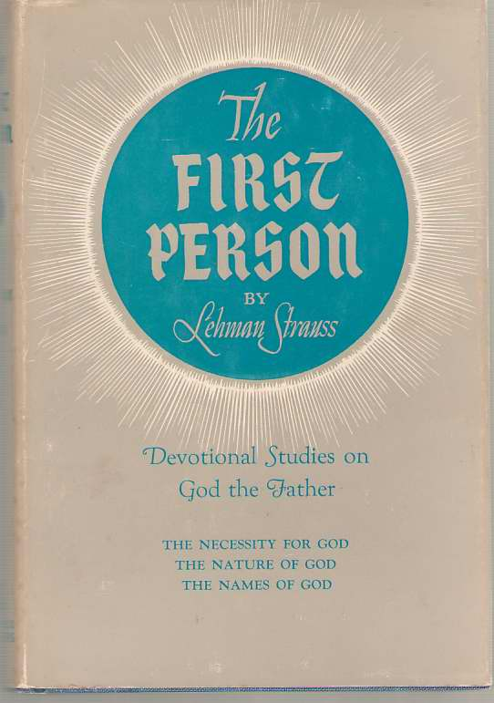 Image for The First Person Devotional Studies on God the Father