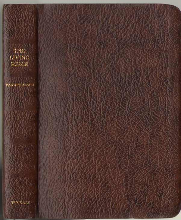 Image for The Living Bible Paraphrased Saddle Brown Cowhide Leather