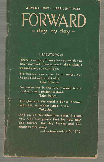 Image for Forward Day By Day Advent 1942 - Pre Lent 1943