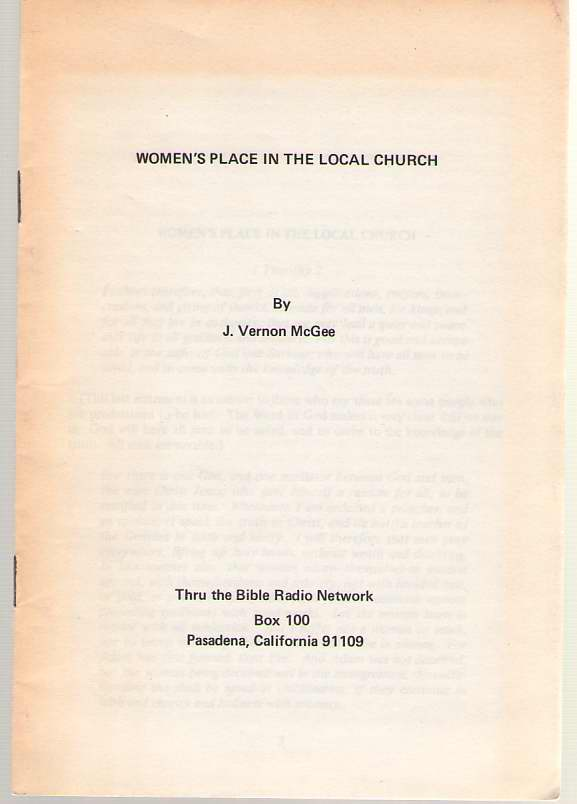 Image for Women's Place in the Local Church