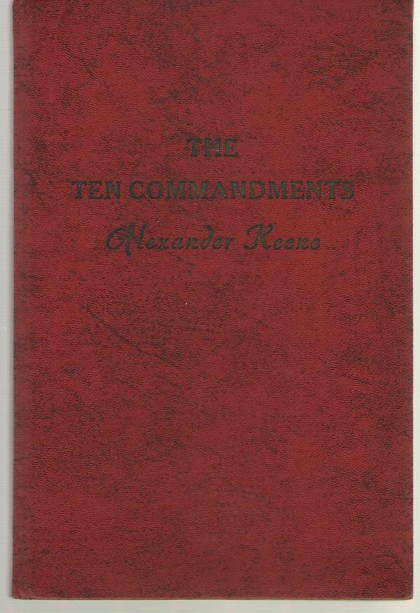 Image for The Ten Commandments A Home Study Course in Ontology