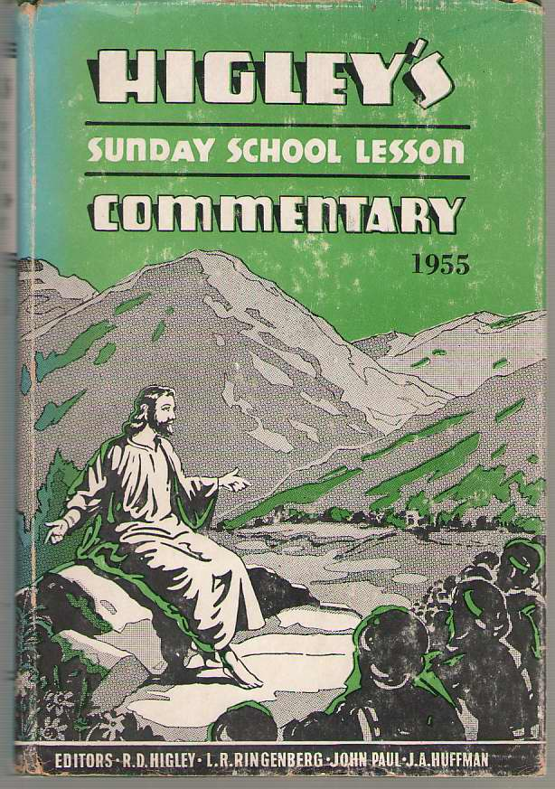 Image for Higley's Sunday School Lesson Commentary - 1955