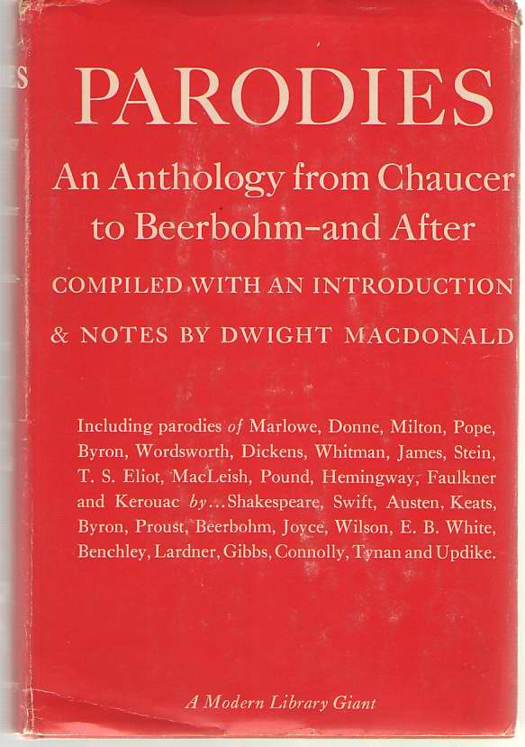 Image for Parodies An Anthology from Chaucer to Beerbohm-And After