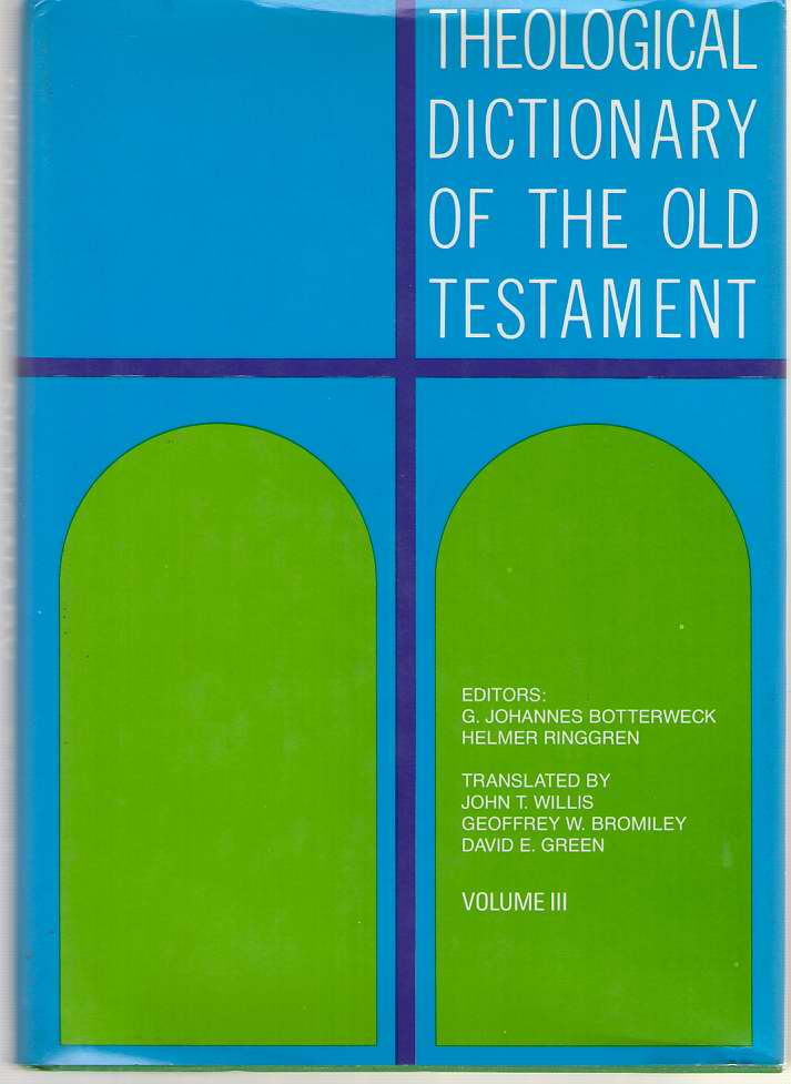 Image for Theological Dictionary Of The Old Testament, Vol. 3