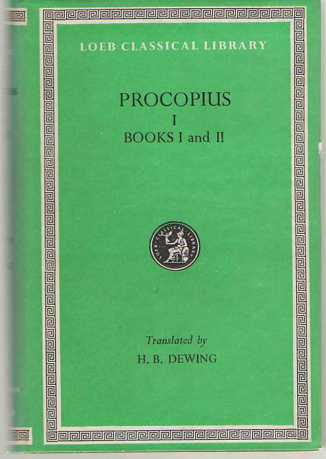 Image for Procopius History of the Wars, Vol. 1, Books 1-2: the Persian War (English and Greek Edition)