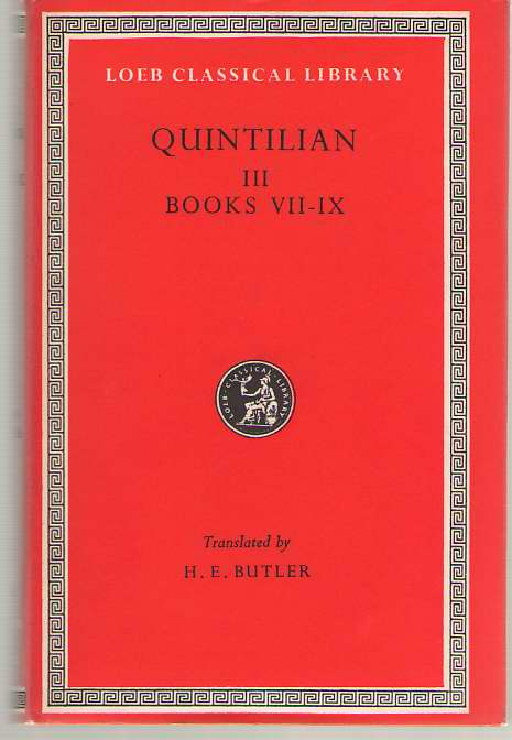 Image for Training of an Orator Quintillian, Vol. 3, Books 7-9