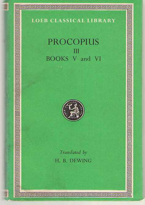 Image for Procopius, Vol. 3, Books 5-6 History of the Wars (English and Greek Edition)