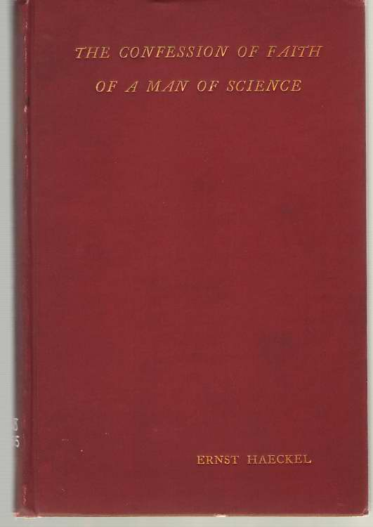 Image for Monism As Connecting Religion and Science The Confession of Faith of a Man of Science