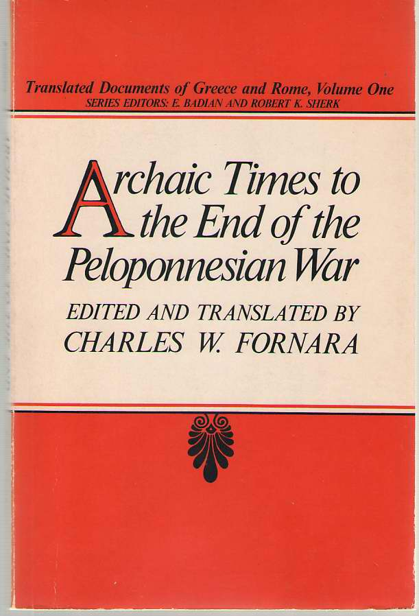 Image for Archaic Times to the End of the Peloponnesian War