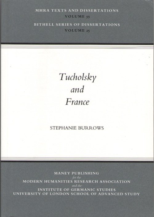 Image for Tucholsky And France