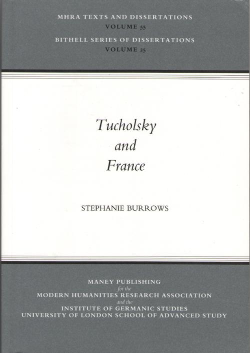 Tucholsky And France, Burrows, Stephanie