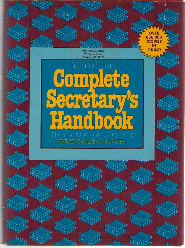 Complete Secretary's Handbook, Devries, Mary